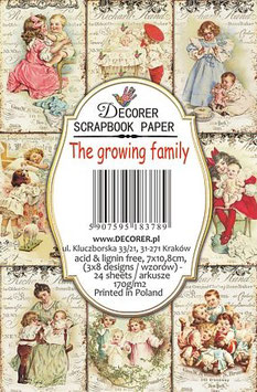 Decorer-Ephemera Karten/The Growing Family