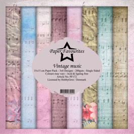 """Paper Favourites-Vintage Music 6x6"""""""
