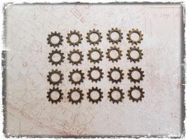 Vintage bronce Charms - Zahnrad 106