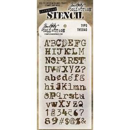 Tim Holtz-Stencil/Typo-THS040
