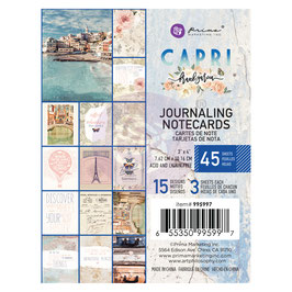 Prima Marketing-Capri/Journaling Notecards 3x4""
