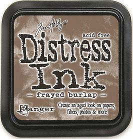 Distress Ink-frayed burlap
