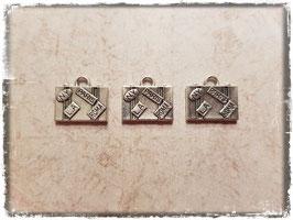Metall Charms-Koffer Silber-268