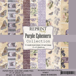 "Reprint-Purple Ephemera Collection 8x8"""
