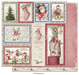 Maja Design - Christmas Seasons - Ephemera - 12x12""