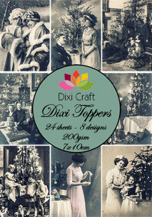 Dixi Craft-Dixi Toppers/Vintage Fotos 3