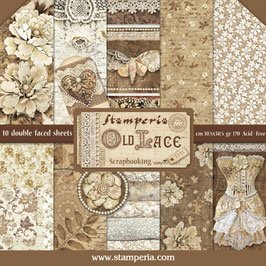 Stamperia-Paper Pad Old Lace 12x12""