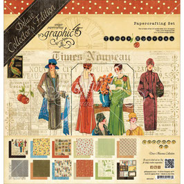 Graphic 45 - Paper Pad - Deluxe Collector's Edition - Times Nouveau - 12x12""