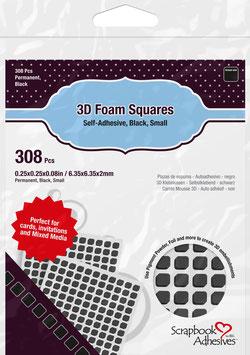 Scrapbook Adhesives-3D Foam Pads/small schwarz