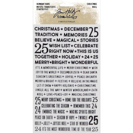 Idea-Ology by Tim Holtz-Rub Ons/Remnant Rubs-Christmas