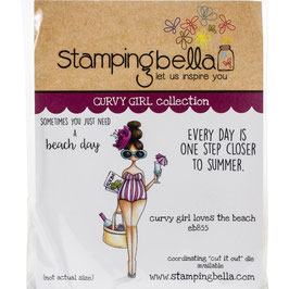 Stamping Bella-Cling Stamp/Curvy Girl Loves The Beach