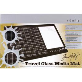 Tim Holtz-Glass Media Mat 26x40cm/Rechtshänder