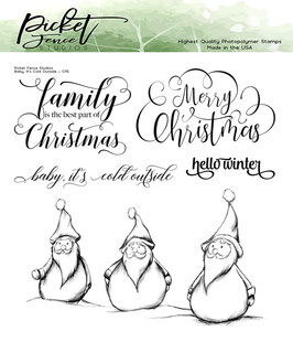 Picket Fence Studios-Clear Stamps/Baby it's cold outside