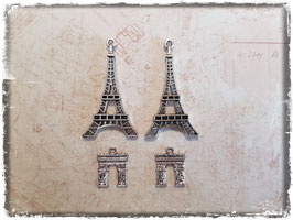 Metall Charms-Paris Silber-208