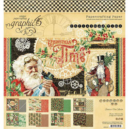 Graphic 45-Paper Pad Christmas Time 8x8""