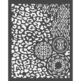 Stamperia-Stencil/Amazonia- Animalier Tribals KSTD062