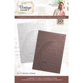 Crafter's Companion 3D Prägeschablone-Vintage Diary-A Moment In Time