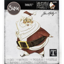 Sizzix Thinlits by Tim Holtz-Stanzform/Jolly st. Nick