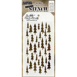 Tim Holtz Stencil-Tree Lot THS150