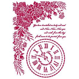 Stamperia-Stencil/Romantic Collection-Journal/Clock KSG465