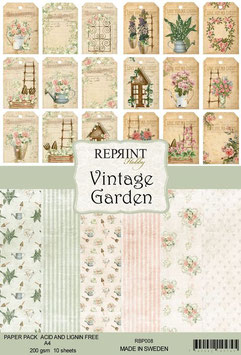 Reprint-Vintage Garden Collection-A4 Paper Pad