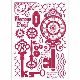 Stamperia-Stencil/Keys & Locks KSG424