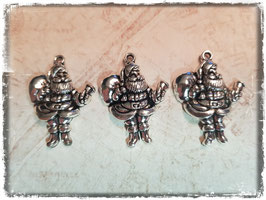 Metall Charms-Weihnachtsmann Silber 1/214