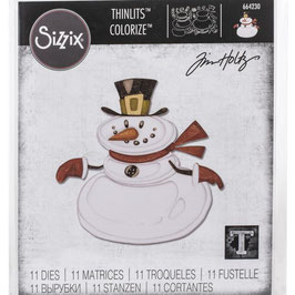Sizzix Thinlits by Tim Holtz-Stanzform/Mr. Snowman Colorize