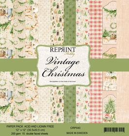 """Reprint-Vintage Christmas 12x12"""""""