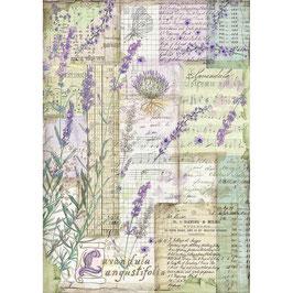 Stamperia Reispapier A4-Provence DFSA4455