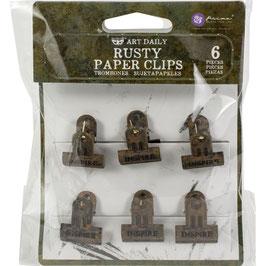 Prima Marketing-Rusty Paper Clips 6 Stück