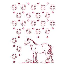 Stamperia Stencil-Romantic Horses KSG468