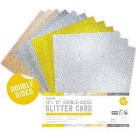 "Dovecraft-Doppelseitiges Glitter Papier Pack/Metallics 12x12"""