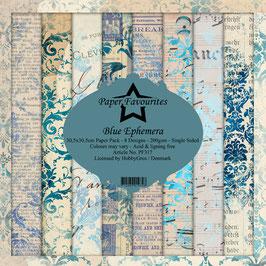 "Paper Favourites-Blue Ephemera 12x12"""