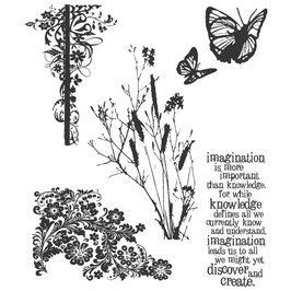 Stampers Anonymous by Tim Holtz-Stempel/Nature's Discovery