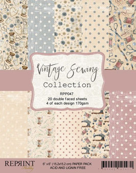 """Reprint-Vintage Sewing Collection 6x6"""""""