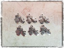 Metall Charms-Handschuhe Silber 1/218