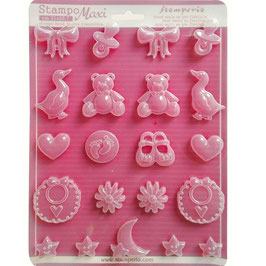 Stamperia-Soft Maxi Mould/Baby A4