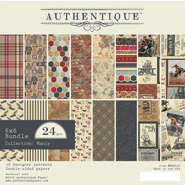 Authentique-Paper Pad/Manly 6x6""