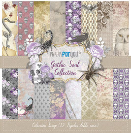 """Papers for you-Scrapbooking Papier/Gothic Soul 12x12"""""""