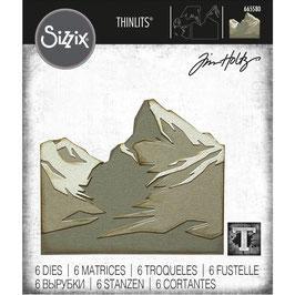 Sizzix by Tim Holtz Thinlits-Stanzform/Mountain Top