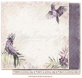 Maja Design-Tropical Garden-Purple parrot