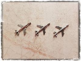 Metall Charms-Flugzeug Silber-267