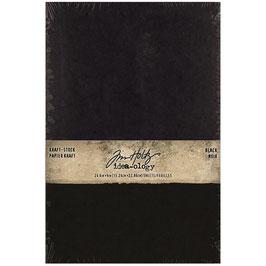 """Idea ology by Tim Holtz-Kraft Stock-Black 6x9"""""""