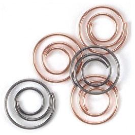 Creative Impressions-Mini Spiralclips-Antike & Kupfer