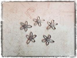 Metall Charms-Blumen Silber-295