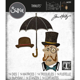Sizzix by Tim Holtz Thinlits-Stanzform/The Gent