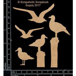 Scrapaholic/Laser Cut Chipboard-Chipboard-Seagulls