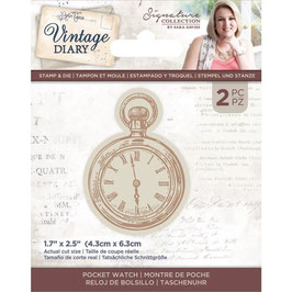 Crafter's Companion Stempel & Stanzer Set Vintage Diary-Pocket Watch