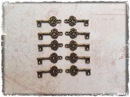 Vintage Metall Charms-Schlüssel